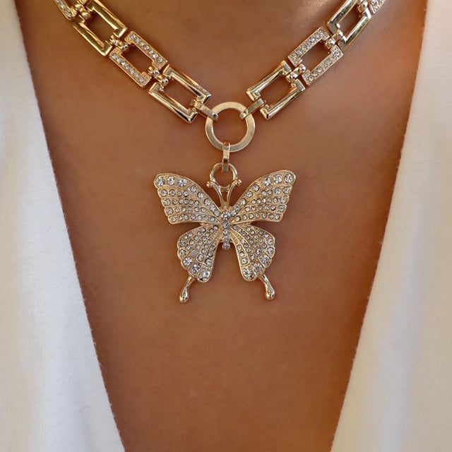 Roman Butterfly Necklace