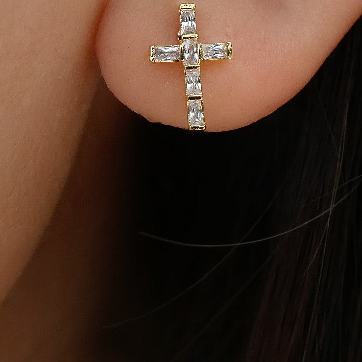 Clara Cross Earrings