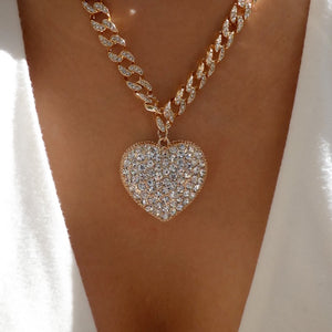 Jadie Heart Chain Necklace