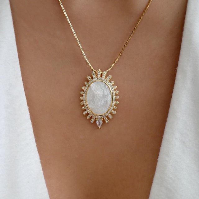 Harlow Mary Coin Necklace