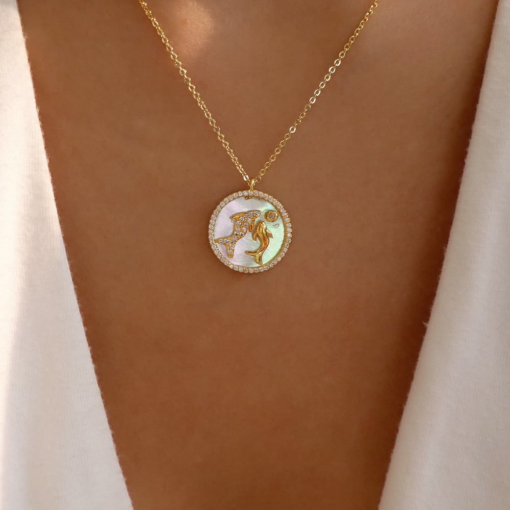 Ali Zodiac Necklace (Pisces)