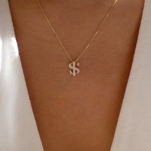 Crystal Dollar Necklace