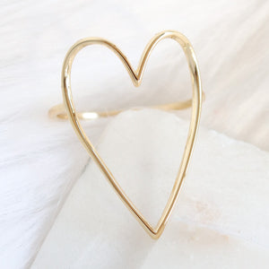 Simple Heart Ring