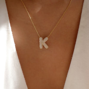 Crystal Lana Letter Necklace (K)