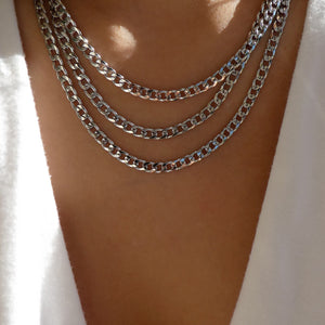 Ulla Chain Necklace (Silver)