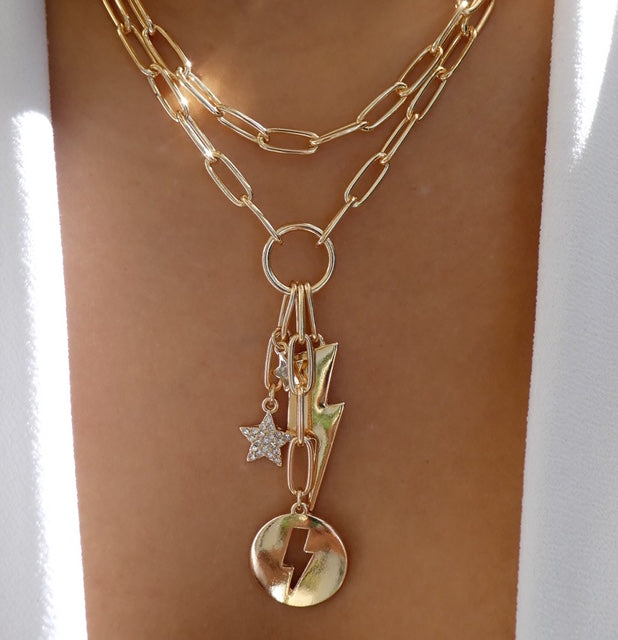 Lightning & Star Necklace