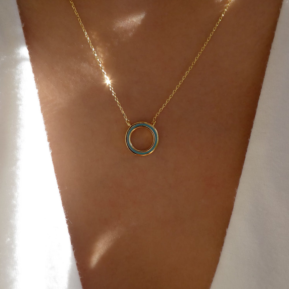 Circle Necklace (Turquosie)