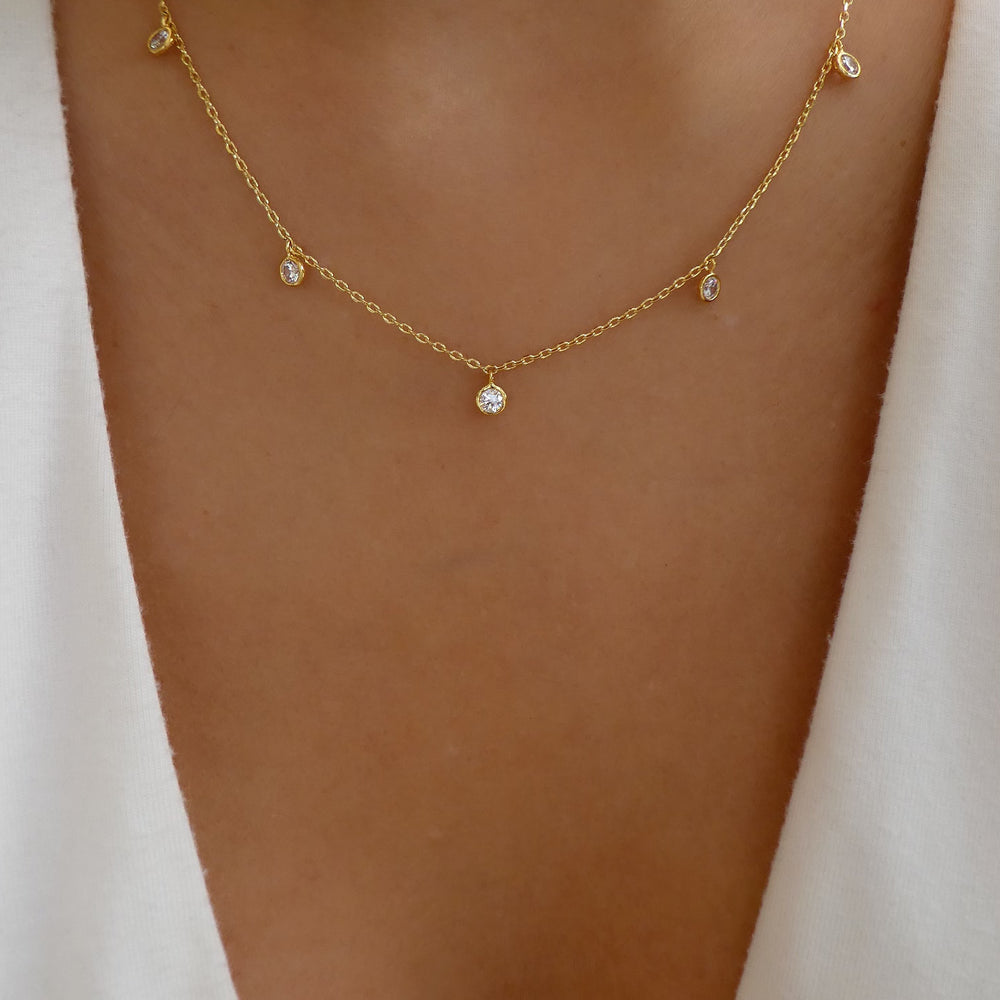 18K Crystal Timmy Necklace