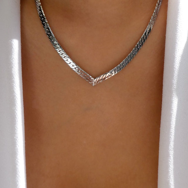 Jasmin Chain Necklace (Silver)