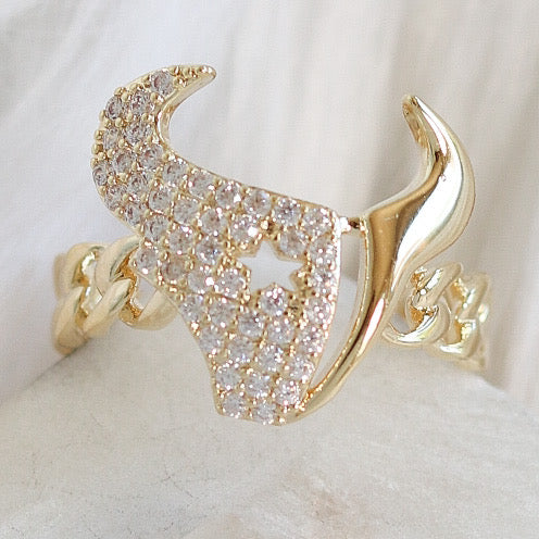 Crystal Horn Ring