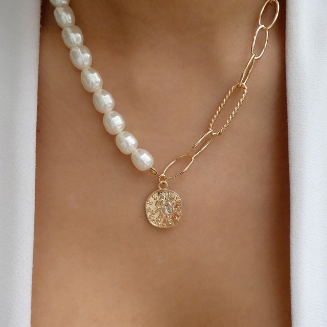 Jana Coin Pearl Necklace