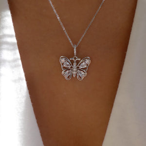 Amalfi Butterfly Necklace (Silver)