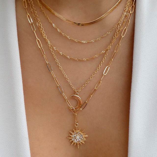 Rena Moon Necklace Set