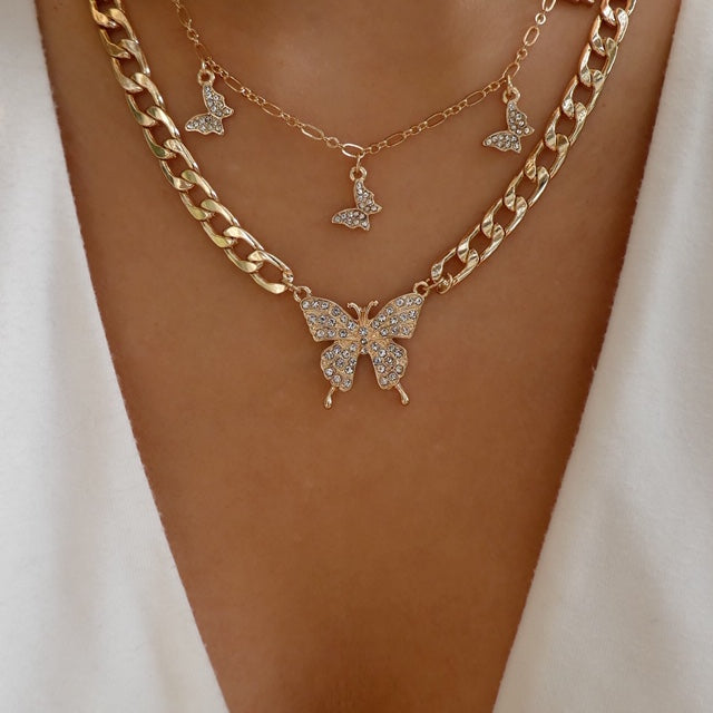 Jacinda Butterfly Necklace Set