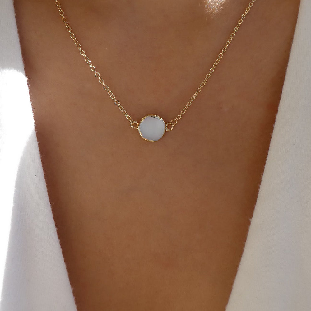 White Zena Necklace