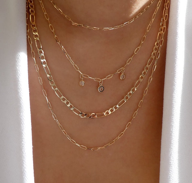 Emery Chain Necklace Set