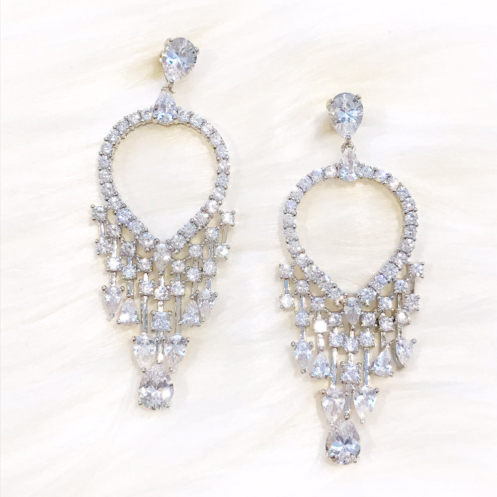 18k White Gold Monica Earrings