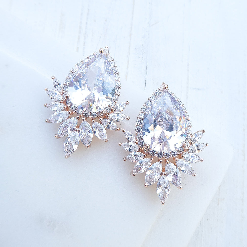 Rose Gold Elsa Earrings