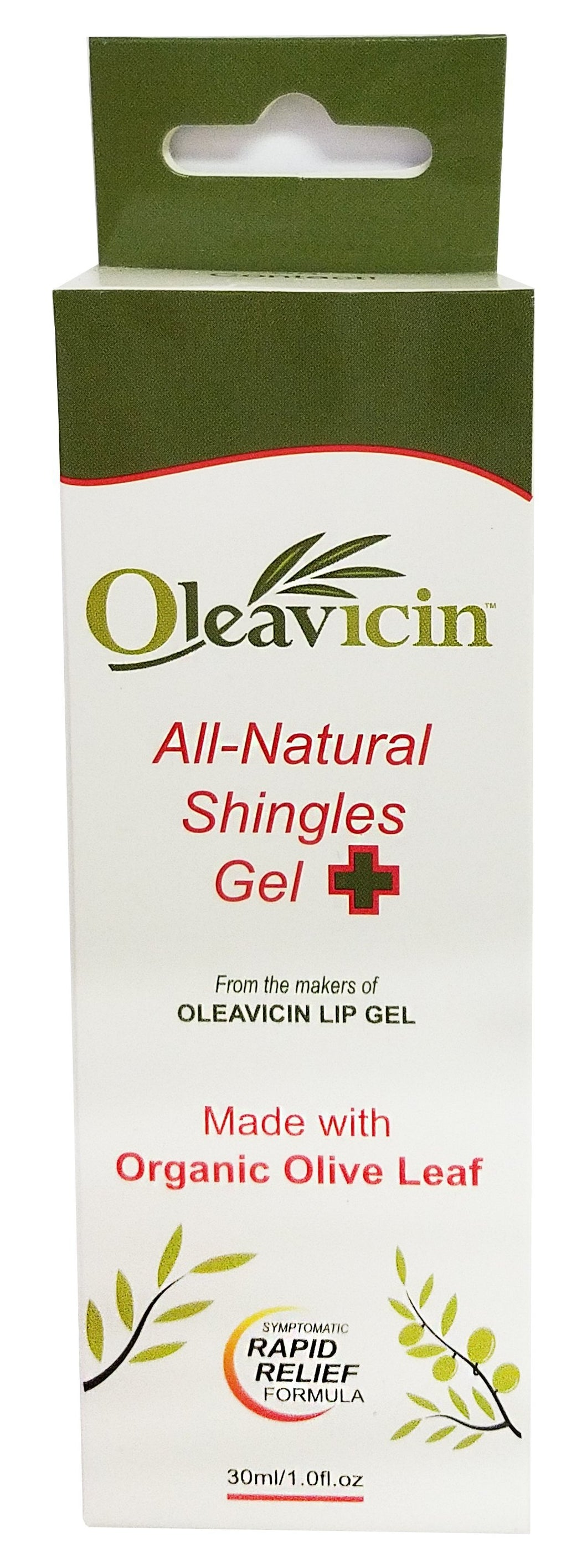 Oleavicin Shingles Relief Gel - Antibacterial - Nerve Pain Relief, Rash, Anti-Itch Treatment - Relieve Itchy Dry Skin, 1 fl oz