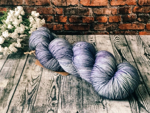 Hoarfrost on Simple Sock - Hand Dyed Wool Yarn