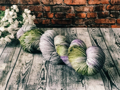 Thistle on Simple Sock (Outlander) Hand Dyed Wool Yarn - The Handmaker's Bag