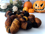 Rotting Pumpkins on Birch High Twist Merino Wool Yarn 100g - The Handmaker's Bag