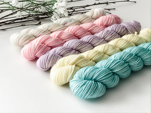 Spring Mini Skein Set Hand Dyed 100% Merino Wool Yarn [Set of 5 (20g) skeins] - The Handmaker's Bag