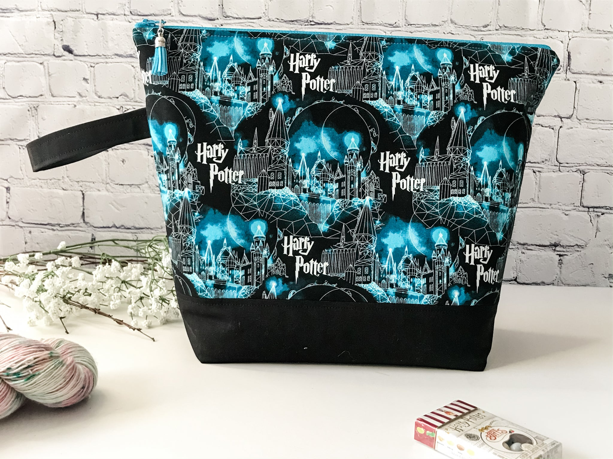 Adventure Bag:  Harry Potter Hogwarts Castle Zippered Project Bag - The Handmaker's Bag