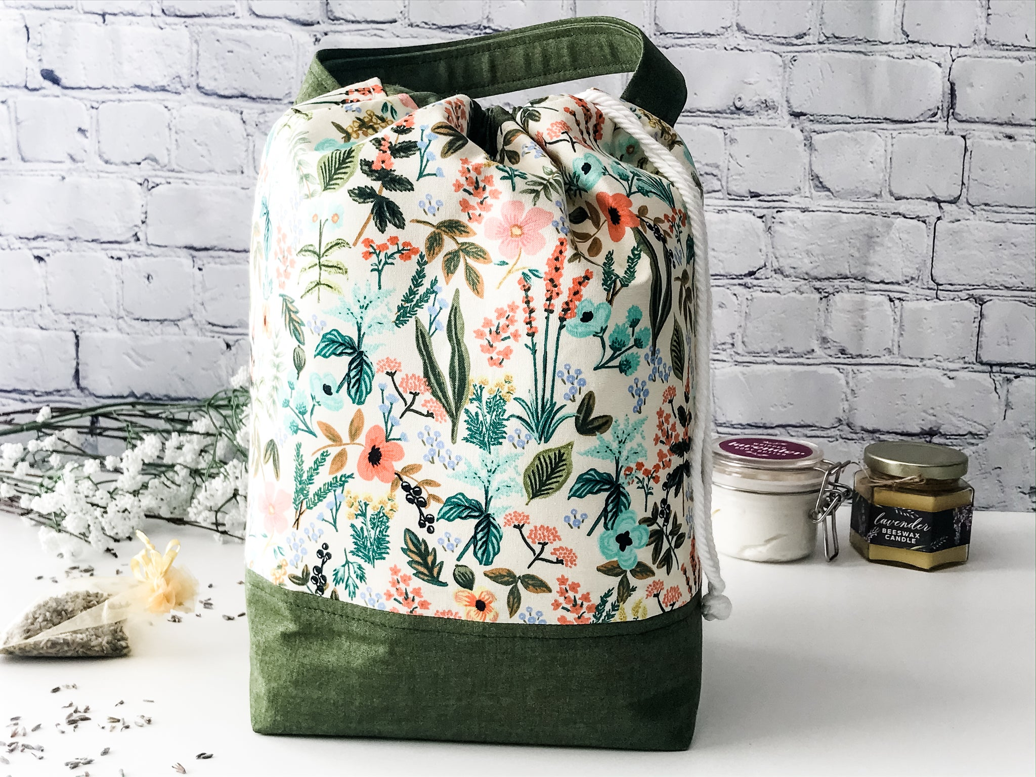 Claire's Herb Garden Grab n' Go Project Bag - The Handmaker's Bag