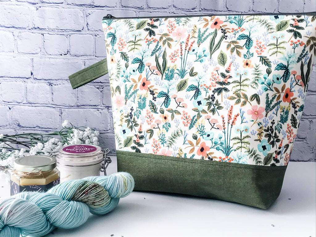 Claire's Herb Garden Adventure Zippered Project Bag - The Handmaker's Bag