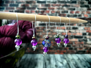 Blue Prism - Stitch Marker Set - The Handmaker's Bag