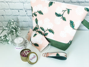 Summer Care Kit:  Adventure Project Bag, Body Butter, Soy Candle & Key Fob - The Handmaker's Bag