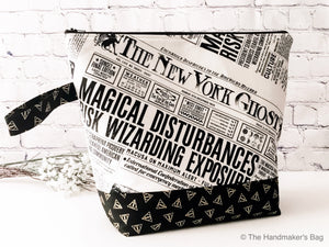 Adventure Bag:  Large Zippered Project Bag - The New York Ghost (Harry Potter Fantastic Beasts)
