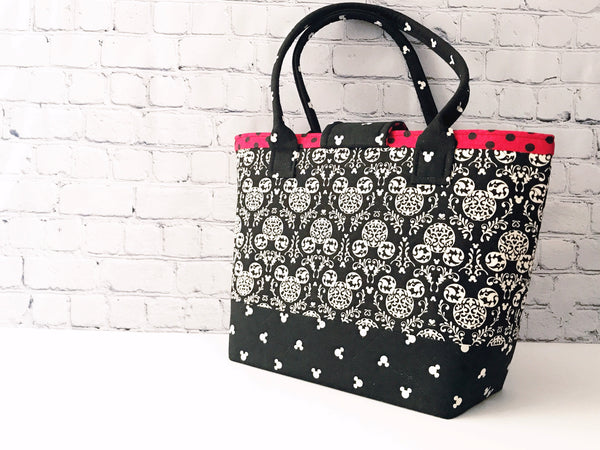 Transit Tote:  Mickey Silhouette Large Tote Bag