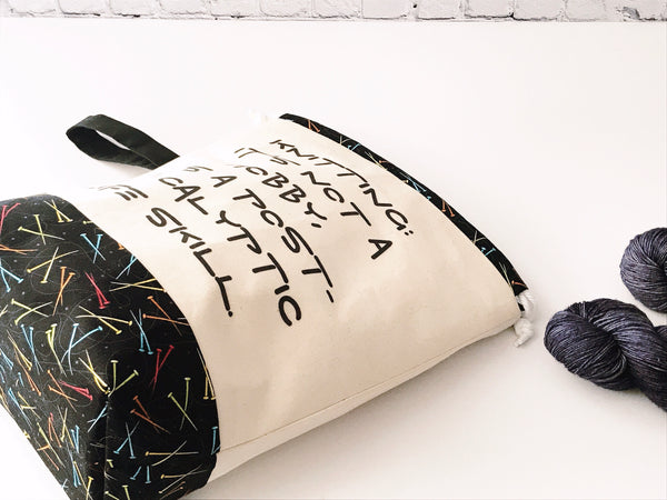 Grab & Go Bag:  Post-Apocalyptic Life Skill Drawstring Project Bag