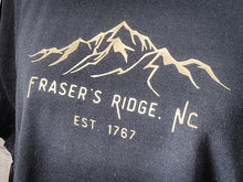 Load image into Gallery viewer, Fraser's Ridge on Black T-shirt