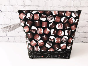 Adventure Bag:  Large Zippered Project Bag - S'more Treats for Me, includes s'more progress keeper by Little Bitty Delights