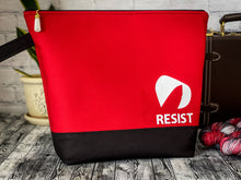 Load image into Gallery viewer, Knitting/Crochet Adventure Bag - Project Bag for WIP's:  RESIST (The Handmaid's Tale Collection)