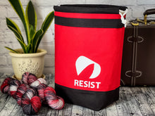 Load image into Gallery viewer, Knitting/Crochet Grab n' Go Bag - Project Bag for WIP's:  RESIST (The Handmaid's Tale Collection)