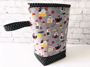 Knit Chicks Grab & Go Drawstring Project Bag