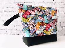 Load image into Gallery viewer, Great Summer Road Trip License Plate Edition Adventure Zippered Project Bag - The Handmaker's Bag