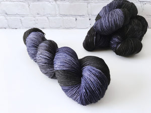Darkest Night on Evergreen Sock Weight Superwash Merino Wool and Nylon Blend Yarn - The Handmaker's Bag