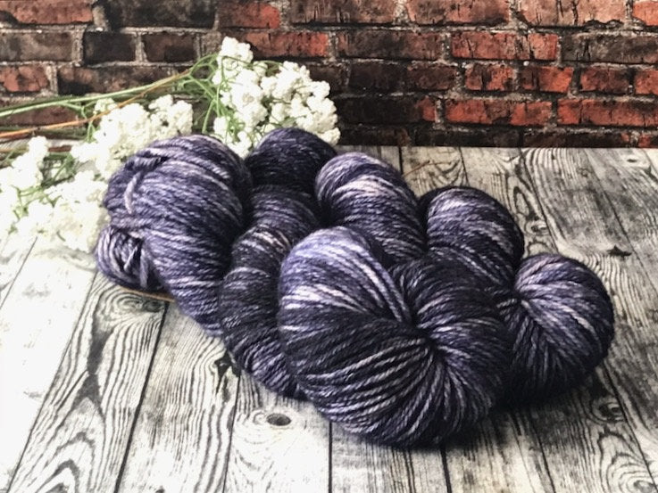 Moonlight on Worsted Hand Dyed Wool Yarn - The Handmaker's Bag