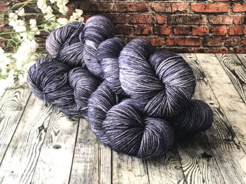 Moonlight on Simple Sock - Hand Dyed Wool Yarn - The Handmaker's Bag