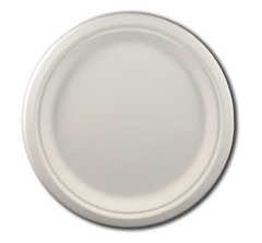 "EcoChoice Biodegradable, Compostable Sugarcane / Bagasse 9"" Plate"