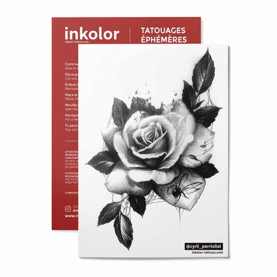Rose @cyril_perriollat - Pack de 3 tattoos