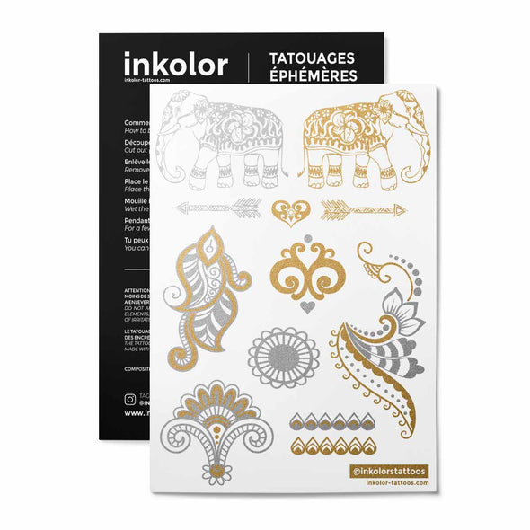 Girly métalliques - Pack de 2 tattoos