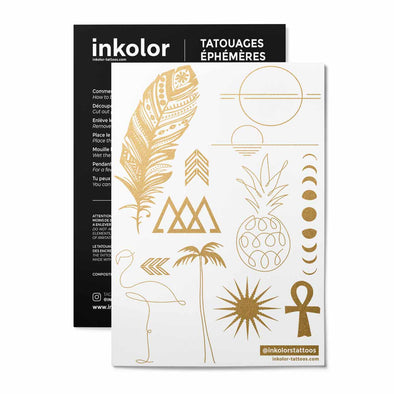 Minimaliste métallique - Pack de 3 tattoos
