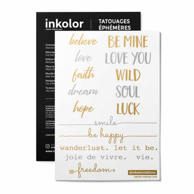 Citations métalliques - Pack de 2 tattoos