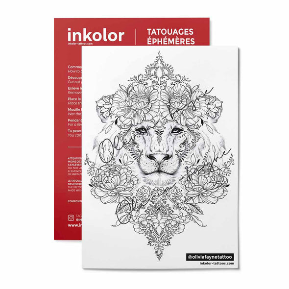 Avant-bras lion @oliviafaynetattoo - Pack de 3 tattoos